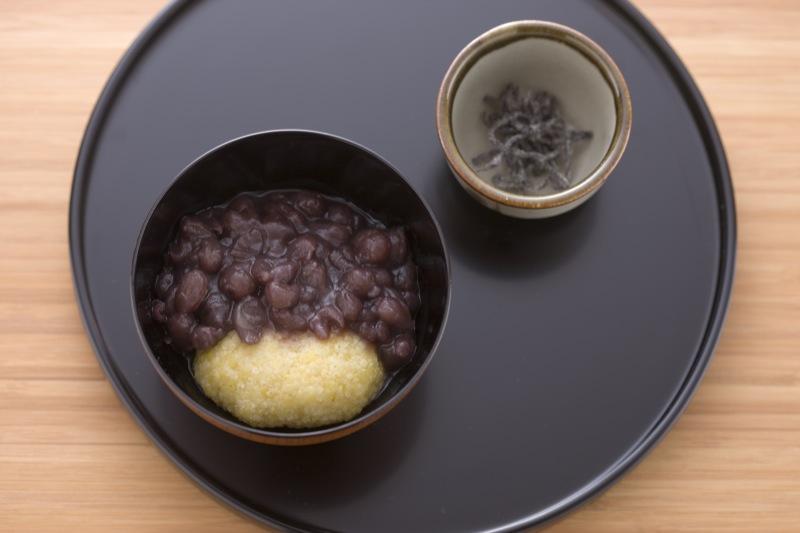 Kibimochi-zenzai (winter season only)